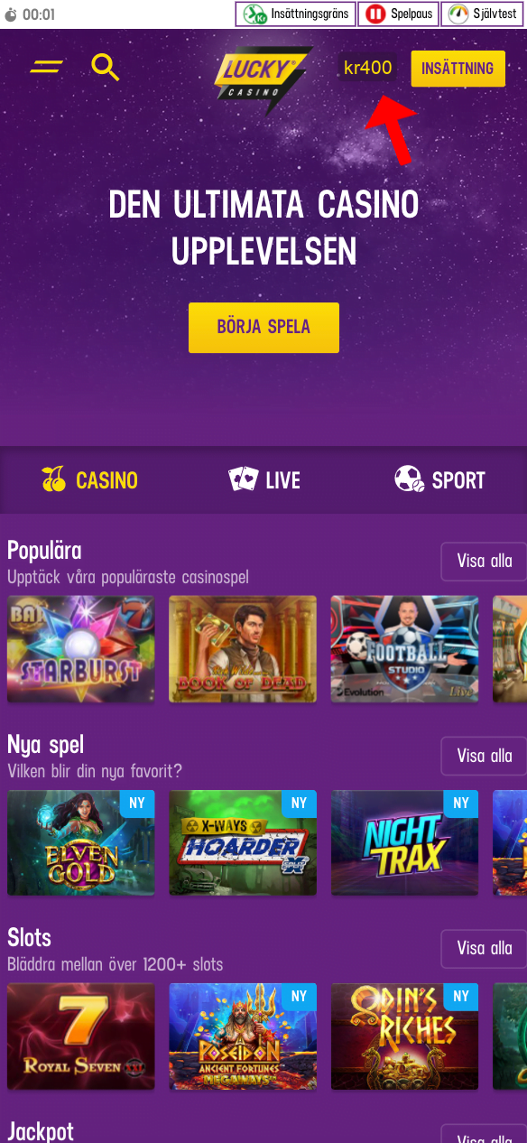 BankID Casino 10 - Börja spela!